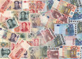 Chinese and euros currency Stock Photos