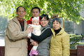 Chinese family Stock Images