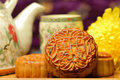 Chinese famous food--Moon cake Stock Photography