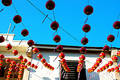 Chinese festival house decoration Stock Photos