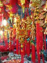 Chinese firecrackers for decoration in new year festival Royalty Free Stock Photo