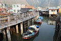 Chinese fishing village Stock Photo