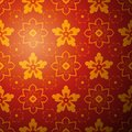 Chinese flower pattern background vector illustration for your fashion design endless eastern red and yellow ornamental Stock Photography