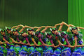 Chinese folk dancers Royalty Free Stock Image