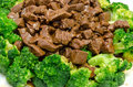 Chinese food a beef and broccoli closeup Royalty Free Stock Photo