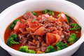 Chinese Food of beef and tomato Royalty Free Stock Photos