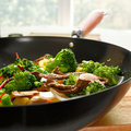 Chinese food - beef and vegetable wok stiry fry Royalty Free Stock Photo