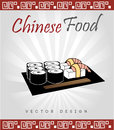 Chinese food design over gray background vector illustration Stock Photography
