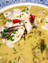 Fish with Chinese Sauerkraut soup Royalty Free Stock Photo