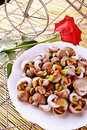 Chinese food- flavored snail Royalty Free Stock Photo