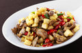 Chinese food hot and sour fried pork offal Royalty Free Stock Photography