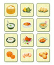 Chinese food icons | BAMBOO series Royalty Free Stock Photo