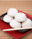 Chinese food - pork bun Royalty Free Stock Photo