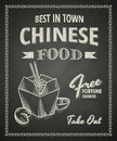 Chinese food poster on black chalkboard Stock Photography