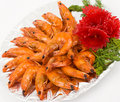 Chinese food. Shrimps in sour sweet sauce. Stock Photography