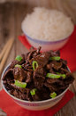 Chinese food Soy sauce cooked beef with star anise Royalty Free Stock Photo