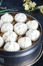 Chinese food, steamed bun Royalty Free Stock Photo