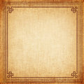 Chinese frame old canvas texture Royalty Free Stock Photo