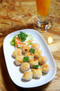 Chinese fried meat ball Royalty Free Stock Photography