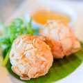 Chinese fried meat ball Stock Image