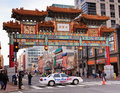 Chinese Friendship Gate Washington DC Chinatown Royalty Free Stock Photos