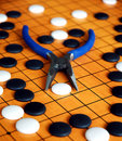 Chinese game of Go Royalty Free Stock Photo