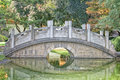 Chinese garden bridge detail view Royalty Free Stock Photo