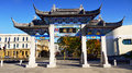 Chinese Garden Gateway Royalty Free Stock Photo