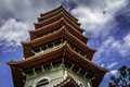 Chinese garden pagoda singapore bottom view of the situated in the in is one of the tallest pagodas in Royalty Free Stock Image