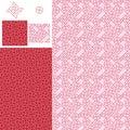 Chinese garden window arrow seamless pattern set Royalty Free Stock Photo