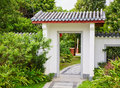 Chinese garden gate Royalty Free Stock Photo
