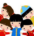 Chinese Girl-Boy Royalty Free Stock Photo