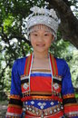The Chinese girl of miao Stock Image