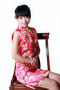 Chinese girl in traditional dress Stock Photography
