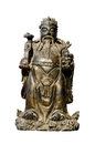 Chinese god statue isolated on white background Royalty Free Stock Photo