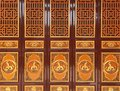 Chinese golden door in the Yuantong Temple Royalty Free Stock Photo