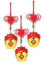 Chinese golden pot ornaments new year auspicious pots Royalty Free Stock Image