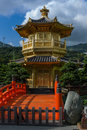 Chinese golden temple in hong kong diamond hill park Royalty Free Stock Photos