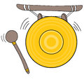 Chinese gong an image of a Royalty Free Stock Image