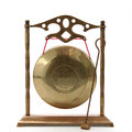 Chinese Gong on White Stock Photo