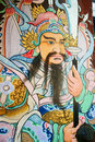 Chinese Guardian Painting at Wat Pho Stock Images