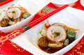 Chinese ham cold dish Stockbild