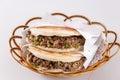 Chinese hamburger ,Shaanxi characteristic Royalty Free Stock Photo