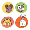 Chinese horoscope animal Royalty Free Stock Photo