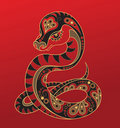 Chinese horoscope. Year of the snake Stock Photo