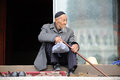An Chinese Hui old man Royalty Free Stock Images