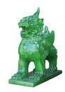 Chinese Imperial Lion Statue, Isolated on white background Royalty Free Stock Photo