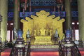 Chinese imperial throne forbidden city china Stock Photography