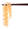 Chinese instant noodle and chopstick Royalty Free Stock Photo