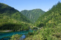 Chinese jiuzhaigou lake color world Stock Photo